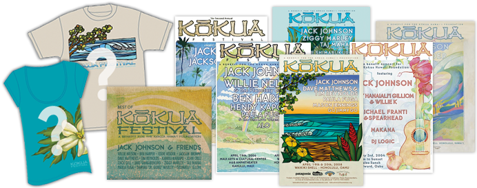 <em>Jack Johnson and Friends - Best of Kokua Festival</em> Poster Pack - Limited Edition (only 100 available)